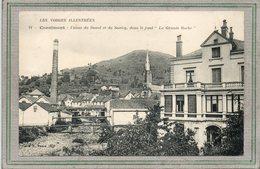 CPA - CORNIMONT (88) Aspect Des Usines Du Daval Et Du Saulcy Et Des Tuyauteries Enjambant La Moselotte En 1913 - Cornimont