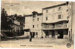 CPA BURZET - La Place De La Confrérie Et Les Hotels (280075) - Altri Comuni