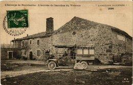 CPA L'Auberge De Peyrebeilhe L'Arrivee De L'Autobus Du Vivarais (398557) - France