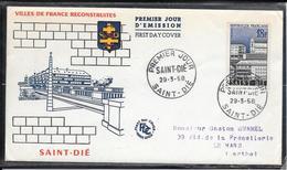 FDC 1958 - 1154  Villes Reconstruites: SAINT DIÉ - FDC