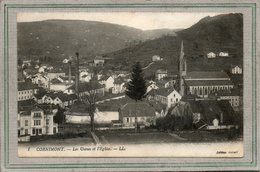 CPA - CORNIMONT (88) Aspect Du Quartier Des Usines Et De L'Eglise Dans Les Années 20 - Cornimont
