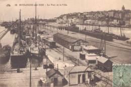 62 BOULOGNE SUR MER LE PORT ET LA VILLE CIRCULEE 1924 - Boulogne Sur Mer