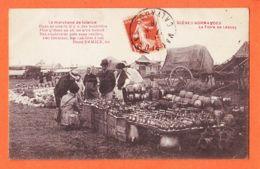 X50097 LESSAY Foire Marchand Faïence Scènes Normandes Poëme ERMICE 1918 De BLOTAS à CAPED Marchande Vins Paris-Bléville - France