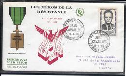 FDC 1958 - 1157  Héros De La Résistance: Jean CAVAILLES - FDC