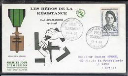 FDC 1958 - 1158  Héros De La Résistance: Fred SCAMARONI - FDC