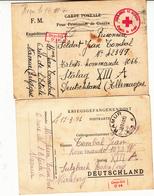 2 Cartes Pour Prisonnier De Guerre  1941   Stalag  XIII A - WW II