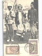 DIEGO-SUAREZ MADAGASCAR Chef Arabe Et Sa Suite Avec Timbres Et Cachet 1908 - Madagaskar