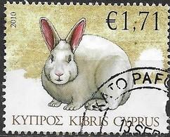CYPRUS 2010 Farm Animals - E1.71 - Rabbit FU - Gebraucht