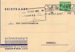 15 XII 1941 Bk Met Firmalogo Van Nijmegen Naar Boekelo - Poststempels/ Marcofilie