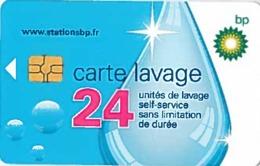 # Carte A Puce Portemonnaie  Lavage BP - Goutte - 24u Gem - Www.stationsbp.fr  RCS Pontoise 439 793 811 Tres Bon Etat - Frankrijk