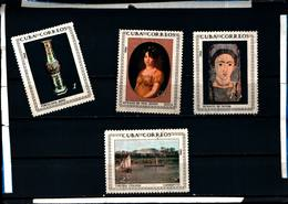 6563B)  CUBA  Sc# 817-820 MUSEUM PAINTINGS Art CPL SET Of 4 1964 -MNH** - Nuovi