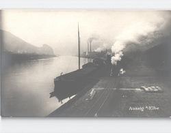 ÚSTI Aussig S/Elbe Real Photo Aufnahme Von Eugen Haim Ships In Smoke C. 1912 - Repubblica Ceca