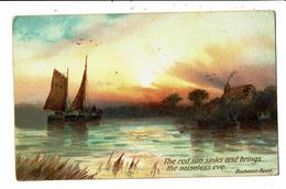 CPA - Carte Postale-Royaume Uni-paysage Bucolique The Red Sun Sinks ... VM5524 - United Kingdom
