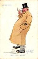 Schönpflug, Austria, Wiener Typen, Smoking Gentleman, Old Postcard - Schoenpflug, Fritz