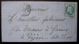 St-Germain-du-Bois 1867 Saône-et-Loire Gc 3635 Pour Dijon - Postmark Collection (Covers)