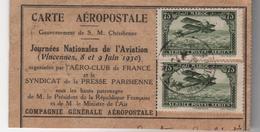 France - Carte Aéropostale - Journées Nationales De L'Aviation - Vincennes 8 Et 9 Juin 1930 - Posta Aerea