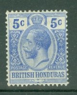 British Honduras: 1913/21   KGV    SG104    5c      MH - British Honduras (...-1970)