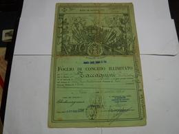 CONGEDO  MILITARE  II GUERRA  ---   DEPOSITO  CAVALLI STALLONI DI PISA - Documentos
