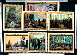 6566B)  CUBA QUADRI DELLA RIVOLUZIONE DI OTTOBRE 1967-8V..-MNH** - Nuovi