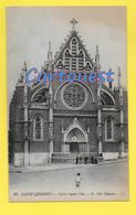 CPA SAINT QUENTIN 02 - Eglise St-Eloi Avec Personnage  - 1920 - Saint Quentin