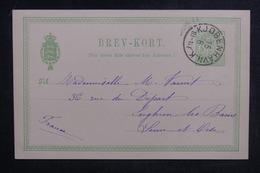 DANEMARK - Entier Postal De Copenhague Pour La France En 1892 - L 38872 - Interi Postali