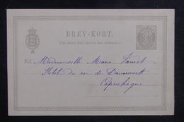 DANEMARK - Entier Postal Pour Copenhague En 1892 , Non Oblitéré - L 38875 - Interi Postali