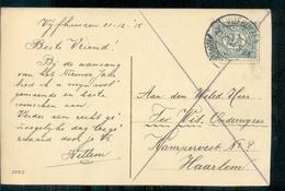 Vijfhuizen - Langebalk Stempel - 1915 - Pays-Bas