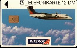 ! Telefonkarte, Telecarte, Phonecard, 1994, K446, Auflage 4000, Interot Airways, Propliner, Augsburg, Germany - Deutschland