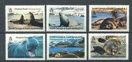 249 GEORGIE DU SUD 1991 - Yvert 208/13 - Elephant De Mer Polaire Antartique - Neuf ** (MNH) Sans Charniere - Géorgie Du Sud