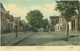 Workum 1909; Zuideinde - Gelopen. (Nauta - Velsen) Lees Info! - Workum