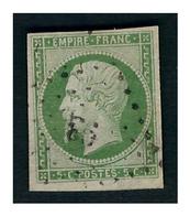Timbre N°12 Obl. - 1853-1860 Napoléon III.