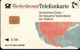 ! Telefonkarte, Telecarte, Phonecard, 1991, P18, Auflage 500000, Telekom Deutschland Direkt, Germany - Deutschland