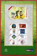 Indonesia Personalized 2019 Sheet Stamps, Seventeenth To Twenty-fourth Logos.3/3. World Scout Jamboree-Scout Mondial.MNH - Nuevos