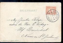 Nieuw En St Joostland - Langebalkstempel - 1908 - Autres