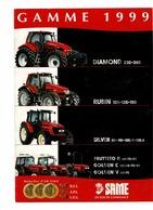 Prospectus,doc,pub,catalogue, Tracteur SAME Gamme 1999 - Agriculture