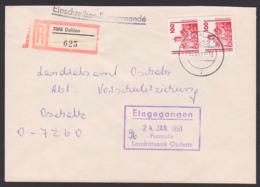 Eisenach 100 Pfg.(2) (Westmark-Währung) Wartburg R-Brief Dahlen Nach Oschatz An Behörde DDR 3350(2), Matin Luther Bibel - Brieven
