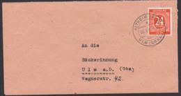Altheim (ALB) über Ulm (Donau) 3.5.46 Fernbrief Mit 24 Pf. Ziffer Einheitsausgabe I - Zone AAS