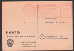 Berlin NW 87 AFS 24.10.47 HAWIG Hauspumpen Für Siedler Und Gartenbewässerung, Alt-Moabit - Marcofilia - EMA ( Maquina De Huellas A Franquear)