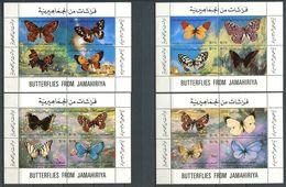 249 LIBYE 1981 - Yvert BF 43/46 - Papillon - Neuf ** (MNH) Sans Charniere - Libye