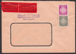 DDR Dienstpost Eilbrief , Abs. Deutsche Werkstätten Hellerau Nach Halle 27.12.57 - Service