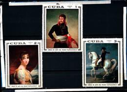 6572B)  CUBA 1969-OPERE D'ARTE DEL MUSEO NAZIONALE-NAPOLEONE - 7V.-SERIE COMPLETA -MNH** - Nuovi
