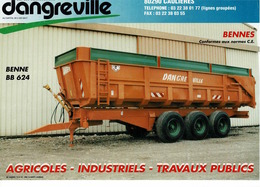 Prospectus,doc,pub,catalogue, Remorques Dangreville - Agriculture