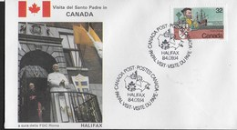 PAPAL VISIT - VISIT DU PAPE - 14.09.1984 - ANNULLO SPECIALE HALIFAX - Primi Giorni (FDC)