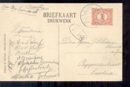 Glimmen - Langebalk Stempel - 1917 - Pays-Bas
