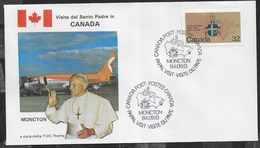 PAPAL VISIT - VISIT DU PAPE - 13.09.1984 - ANNULLO SPECIALE MONCTON - Primi Giorni (FDC)