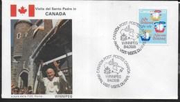 PAPAL VISIT - VISIT DU PAPE - 16.09.1984 - ANNULLO SPECIALE WINNIPEG - Primi Giorni (FDC)