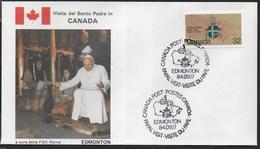 PAPAL VISIT - VISIT DU PAPE - 17.09.1984 - ANNULLO SPECIALE EDMONTON - Primi Giorni (FDC)