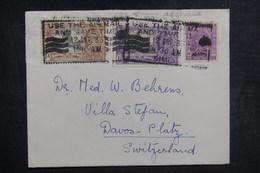INDE - Enveloppe Pour La Suisse En 1935, Affranchissement Plaisant - L 38889 - Inde (...-1947)