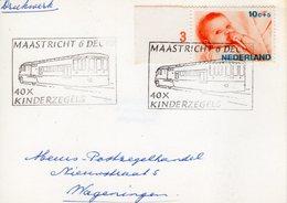 6 DEC 86 Gelegenheidsstempel Maastricht 40x Kinderzegels Op Bk Naar Wageningen - Marcofilia