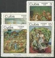 6574B)  CUBA Sc# 1565-1567 FOLKLORE Black Magic Feast  - 1970 - 4V.-SERIE COMPLETA -MNH** - Nuovi